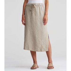 Eileen Fisher Linen Skirt XL Mid Calf NWT Organic